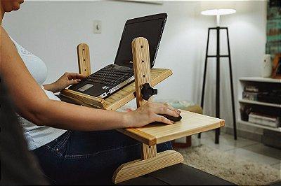Suporte para notebook com apoio para mouse