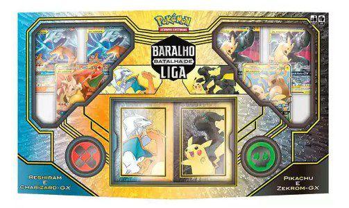 Pokémon Box Pikachu e Zekrom Vs Resgiram e Charizard