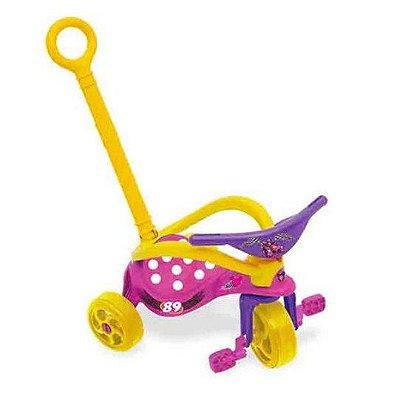 Triciclo Minnie com Empurrador Proteção