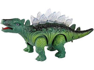 Boneco Dinossauro Estegossauro com luz e som