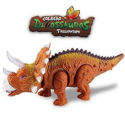 Boneco Dinossauro Triceratops com luz e som