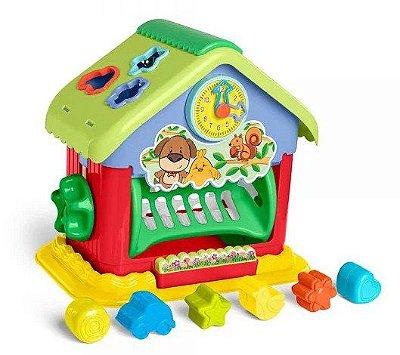 Brinquedo Educativo Casinha Com Blocos Mini House