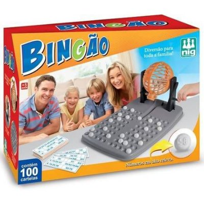 Jogo Bingão com 100 Cartelas