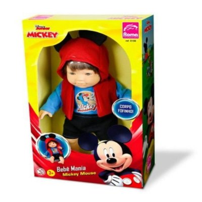 Boneco Bebê mania Mickey Mouse