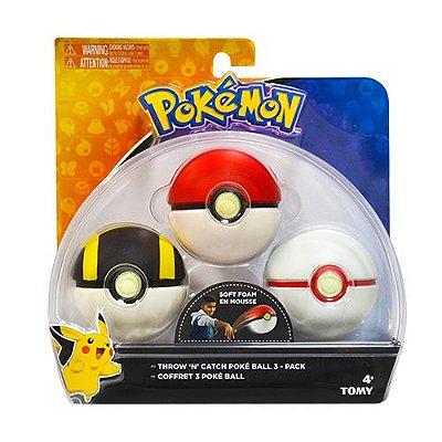 Pokémon Kit Pokebola com 3