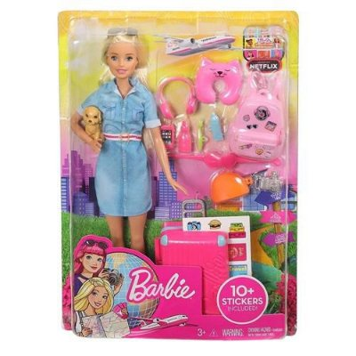Boneca Barbie Viajante com Pets