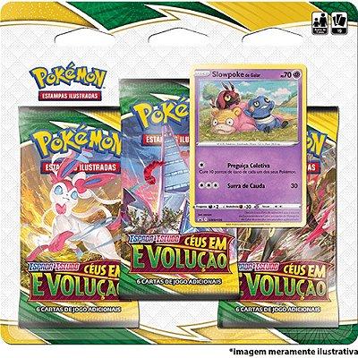 Booster Triplo Pokémon Espada e Escudo Série 7 Céus em Evolução