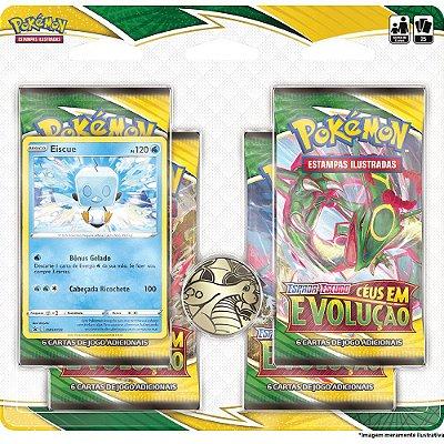 Booster Quádruplo Pokémon Espada e Escudo Série 7 Céus em evolução