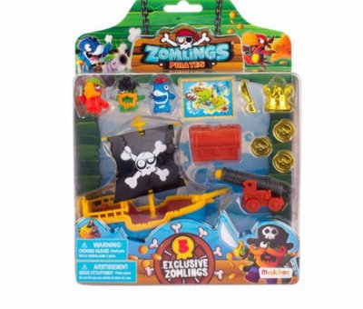 Zomlings - Playset Navio Pirata Zumbi
