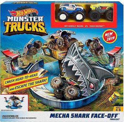 Hot Wheels - Monster Trucks Batalha do Tubarão Mecha