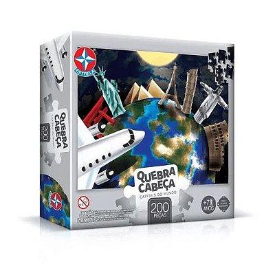Puzzle 500 peças Capitais do Mundo