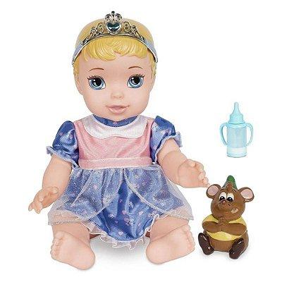 Boneca Cinderela Com Pet E Mamadeira