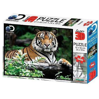 Quebra Cabeça 3D Tigre 500 pçs