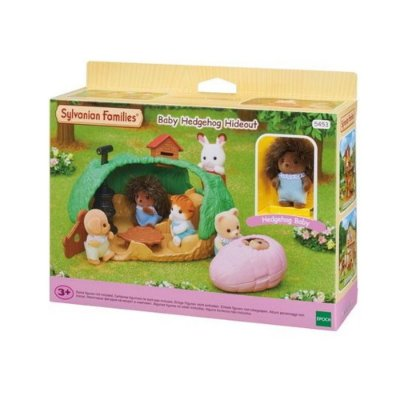 Sylvanian Esconderijo do Bebe Porco espinho