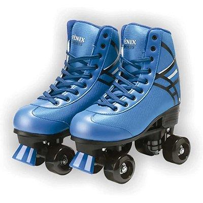 Patins Roller Skate Azul ATINS