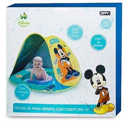 Piscina Praia Infantil com Cobertura UV Mickey
