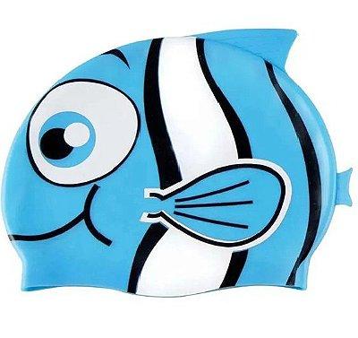 Touca de Natação Infantil Peixinho Azul