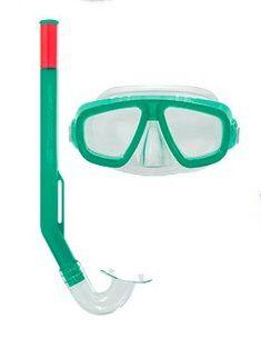 Kit Snorkel + Mascara Infantil Fundive Verde
