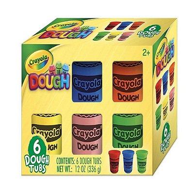 Crayola massa de modelar com 6 cores