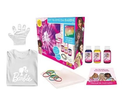 Kit Tie Dye da Barbie Camiseta Tam P