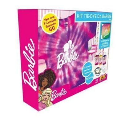 Kit Tie Dye da Barbie Camiseta Tam GG