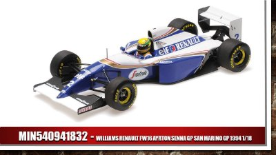 Carro Ayrton Senna - Willians Renault 1994 GP San Marino 1/18