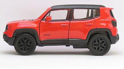 Carro Jeep Renegade Trailhawk Laranja 1:32