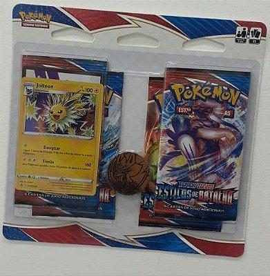 Carta Pokémon Espada e Escudo Série 5 Estilos de Batalha - Blister Quádruplo