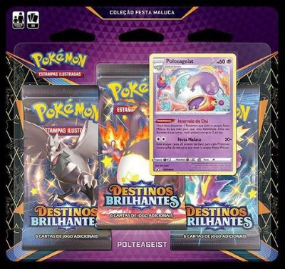 Pokémon Pack Triplo Booster Destinos Brilhantes