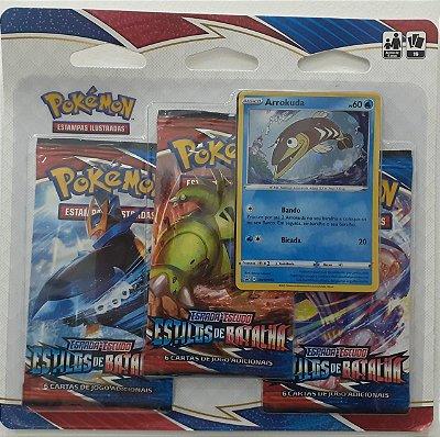 Carta Pokémon Espada e Escudo Série 5 Estilos de Batalha - Blister Triplo