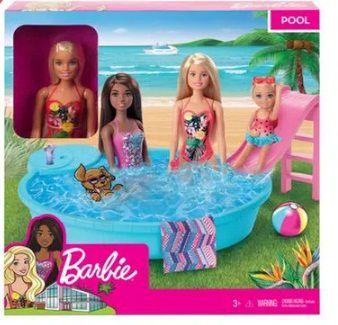 Barbie piscina chique com boneca