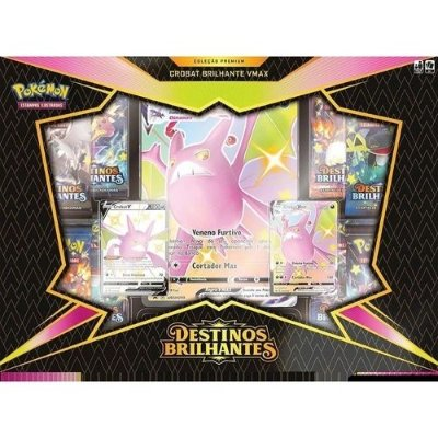 Box Pokemon Destinos Brilhantes Crobat Brilhante Vmax