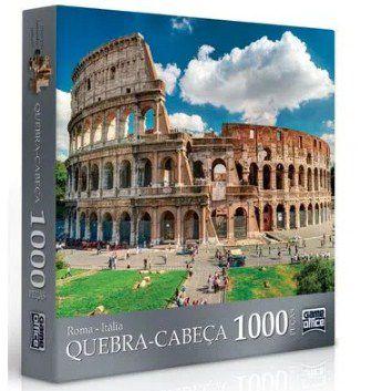 Quebra-Cabeça 1000 Peças  Paris e Roma
