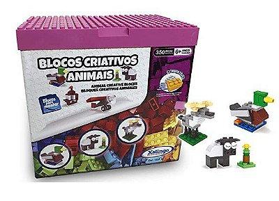 Blocos Criativos Animais 350 peças