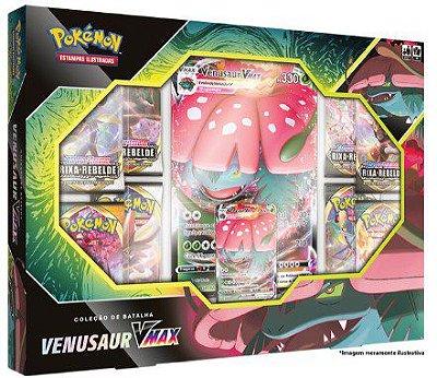 Pokémon Box Vmax Blastoise e Venusaur