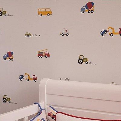 Papel de Parede Infantil e Bebê Estampado Automóveis IP1704