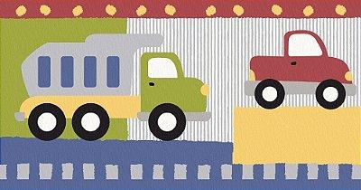 Faixa Border de Parede Infantil e Bebê Estampado Automóveis IF1908