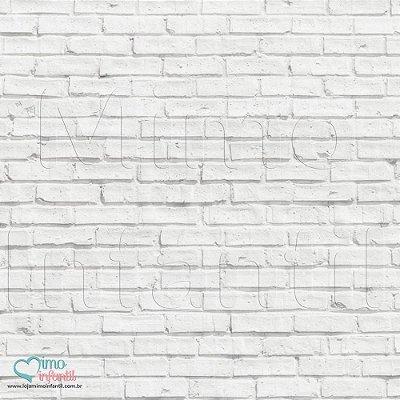 Papel de Parede Autocolante Infantil e Bebê Estampado Tijolo branco TJSP030