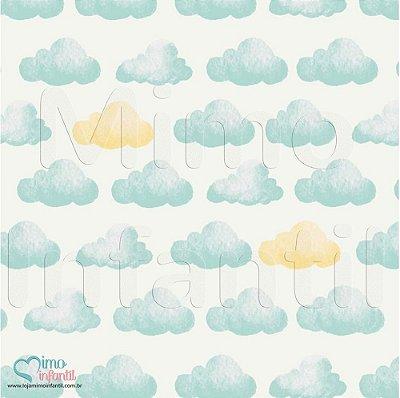 Papel de Parede Autocolante Infantil e Bebê Estampado Nuvens II BASP055