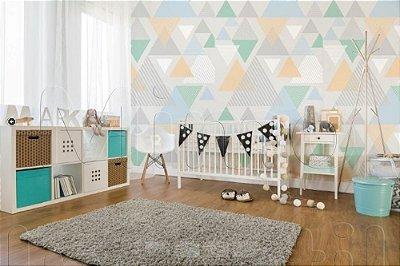 Papel de Parede Autocolante Infantil e Bebê Estampado Triângulos GMSP0111