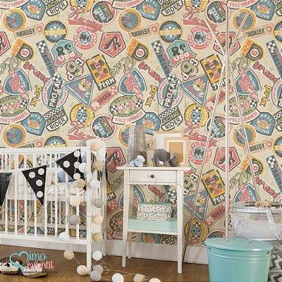 Papel de Parede Autocolante Infantil e Bebê Estampado Formula I TESP027