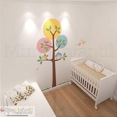 Adesivo de Parede Infantil e Bebê Árvore Manu