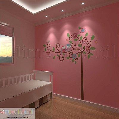 Adesivo de Parede Árvore Infantil Sabedoria (fácil instalação, lavável)