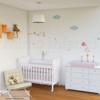 Adesivo de parede infantil e bebê Jardim