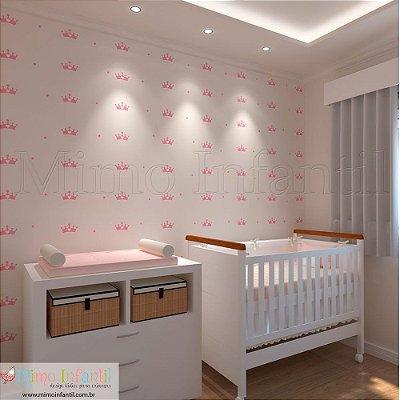 Adesivo de Parede Infantil e Bebê Coroas da Minha Princesa (fácil instalação, lavável)