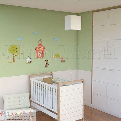 Adesivo de Parede Infantil e Bebê  Fazendinha (fácil instalação, lavável)