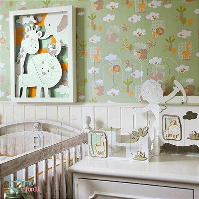 Papel de Parede Infantil e Bebê Safari Verde (cola grátis, indicamos instalador) - BP3303