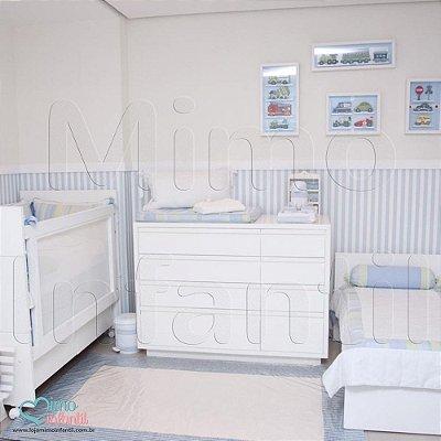 Papel de Parede Infantil e Bebê Listrado (cola grátis, indicamos instalador) - BP3328