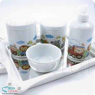 Kit Higiene para Bebê em Porcelana Safari - KH0102