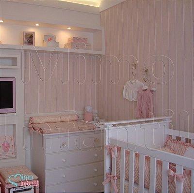 Papel de Parede Infantil e Bebê Listrado (lavável, cola grátis, indicamos instalador) - FP811019